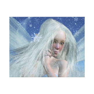 Cold Winter Fairy Portrait Canvas Print