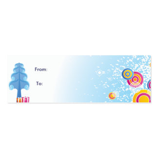 Cold Winter Gift tag Pack Of Skinny Business Cards