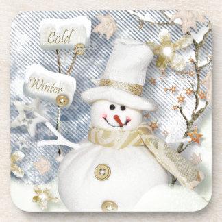 Cold Winter Snowman Coaster