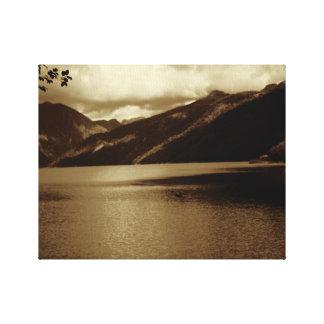 Coldwater Lake WA (Sepia) Canvas Print