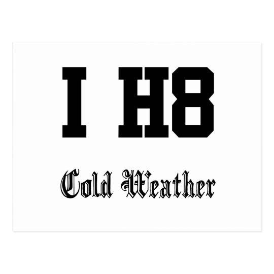 coldweather postcard