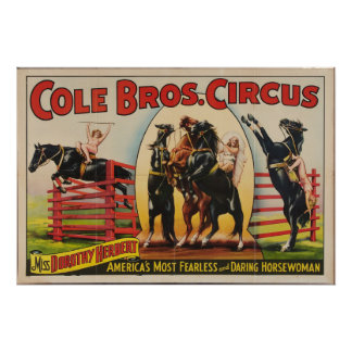 Cole Brothers, 1930s Circus Poster