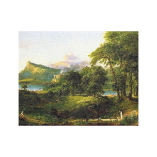 Cole Thomas The Arcadian Oil Painting on-canvas Gallery Wrap Canvas