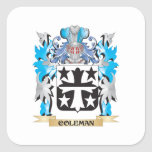 Coleman Coat of Arms - Family Crest Square Sticker