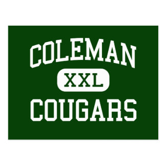Coleman - Cougars - High - Coleman Wisconsin Postcard