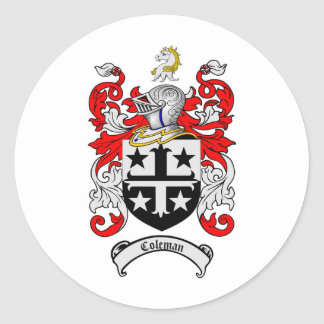 COLEMAN FAMILY CREST -  COLEMAN COAT OF ARMS STICKER