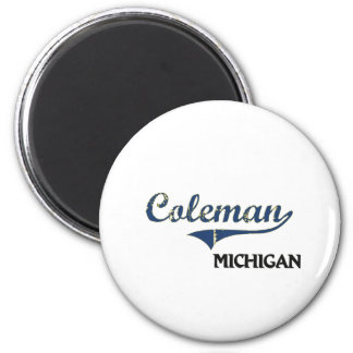 Coleman Michigan City Classic 6 Cm Round Magnet