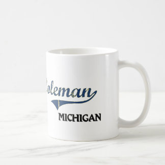 Coleman Michigan City Classic Basic White Mug
