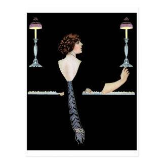 """Coles Phillip - """"Piano"""" Postcard"""