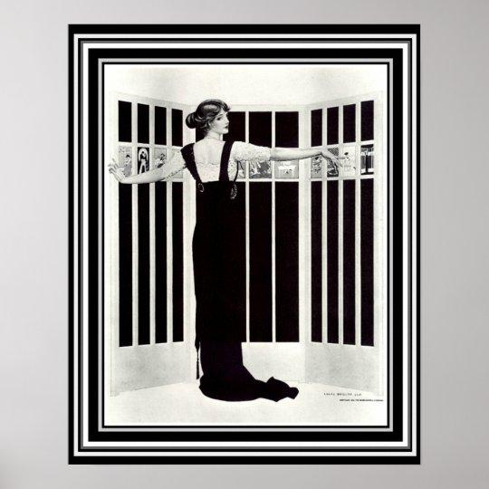 "Coles Phillips Art Deco ""Picture Screen"" 16 x"