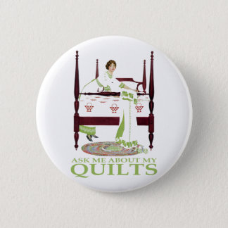 Coles Phillips Fadeaway - Ask Me About My Quilts 6 Cm Round Badge