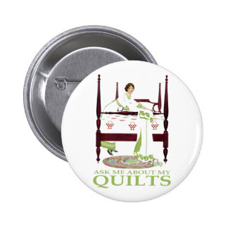 Coles Phillips Fadeaway - Ask Me About My Quilts Pins