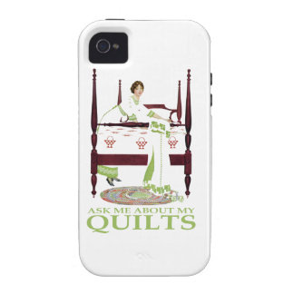 Coles Phillips Fadeaway - Ask Me About My Quilts Case-Mate iPhone 4 Cases