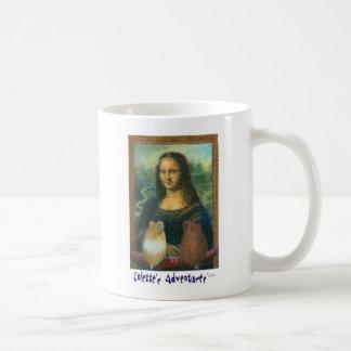 Colette and Charlotte and Mona Lisa Basic White Mug