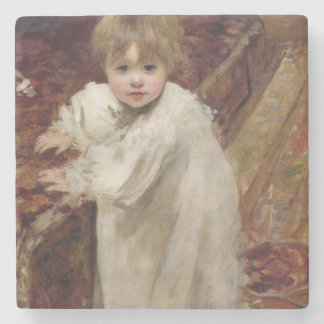Colette's First Steps, 1895 Stone Coaster