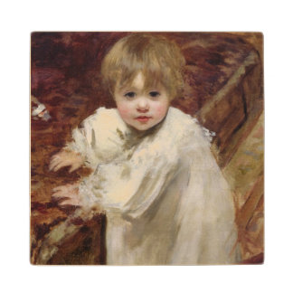 Colette's First Steps, 1895 Wood Coaster
