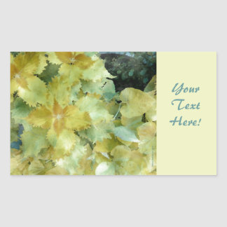 Coleus Yellow Green Rectangular Sticker