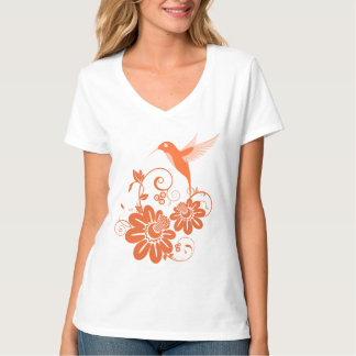 Colibri and Flowers T-Shirt