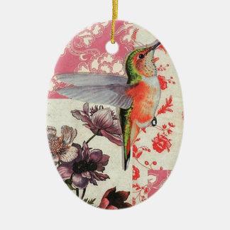 Colibri - Christmas Adornment Oval De Cerámica Ceramic Oval Decoration
