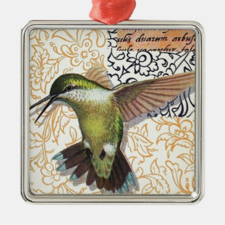 Colibri - Christmas Adornment Squared De Metal Silver-Colored Square Decoration