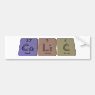 Colic-Co-Li-C-Cobalt-Lithium-Carbon.png Bumper Sticker