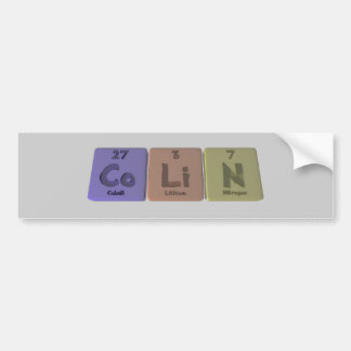 Colin as Cobalt Lithium Nitrogen Bumper Stickers