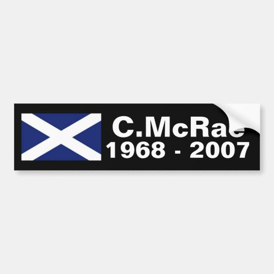 Colin McRae memorial sticker