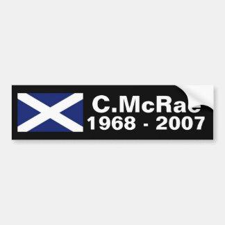 Colin McRae memorial sticker Bumper Sticker