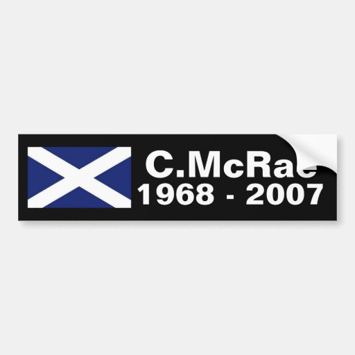 Colin McRae memorial sticker Bumper Sticker