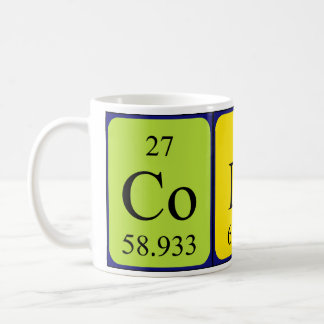 Colin periodic table name mug