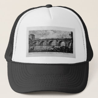 Coliseum and Flavian`s Amphitheatre in Rome Trucker Hat