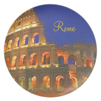 Coliseum In Rome Italy Party Plate