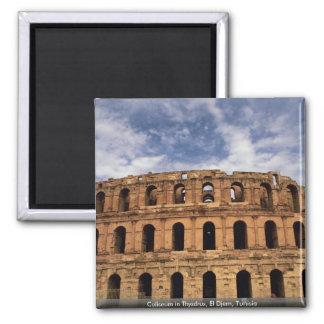 Coliseum in Thysdrus, El Djem, Tunisia Square Magnet