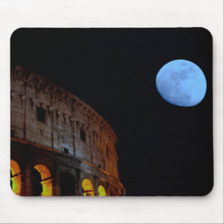 Coliseum of Rome in Moonlight Mouse Pad