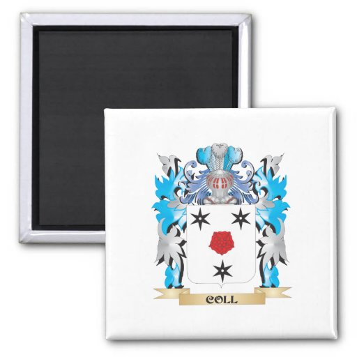 Coll Coat of Arms - Family Crest Fridge Magnets