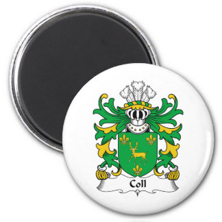 Coll Family Crest 6 Cm Round Magnet