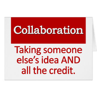 Collaboration Definition Note Card
