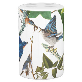 Collage Audubon Birds Wildlife Animal Bath Set