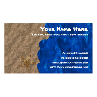 Collage Beach business card
