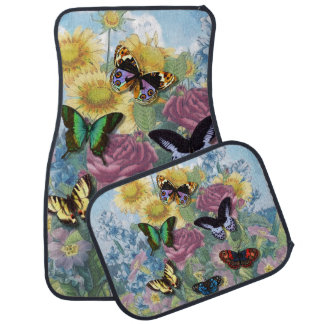 "Collage ""Beautiful Butterflies"" Car Mats"