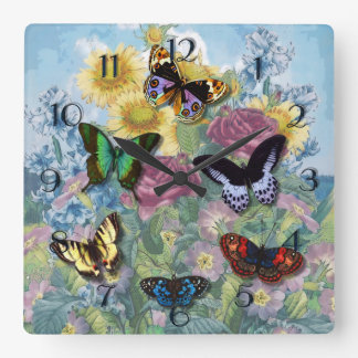 "Collage ""Beautiful Butterflies"" Clock"