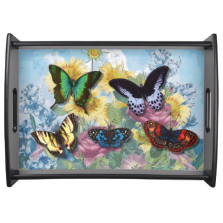 "Collage ""Beautiful Butterflies"" Serving Tray"