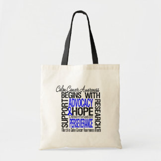 Collage Colon Cancer Awareness Month Bags