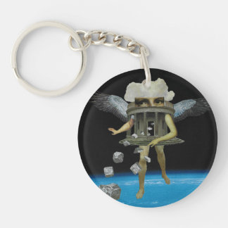 "Collage ""Construction"" keychain"
