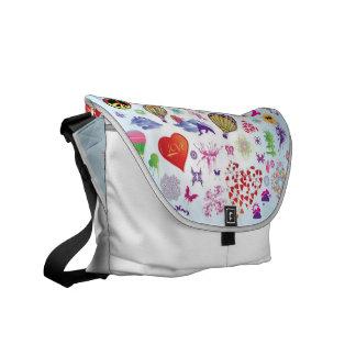 Collage Design Messenger Bags