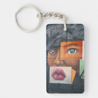Collage Face Keychain