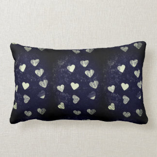 Collage hearts grunge lumbar pillow