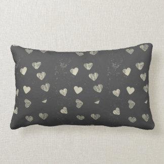 Collage hearts lumbar pillow