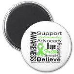 Collage - Mental Health Awareness 6 Cm Round Magnet