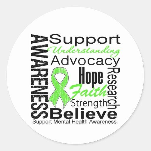 Collage - Mental Health Awareness Round Sticker